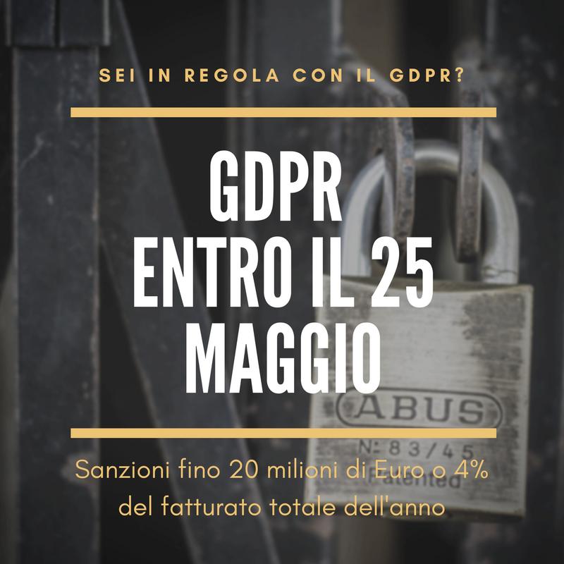 Nuovo Regolamento Europeo sulla protezione dei dati personali (GDPR), che introduce importanti novità in materia.
