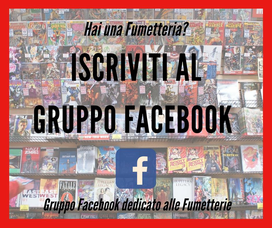 Gruppo Facebook dedicato alle Fumetterie